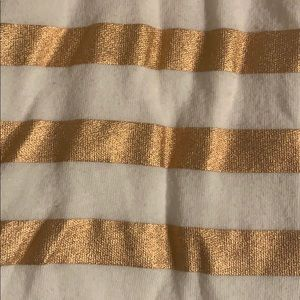 J. Crew Tops - White and rose gold striped j crew t-shirt